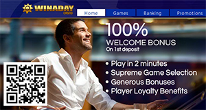 WinADay Promises Fun, Free Cash Bonus to Play on Online Slots