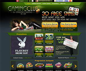 gaming club casino 30 free spins