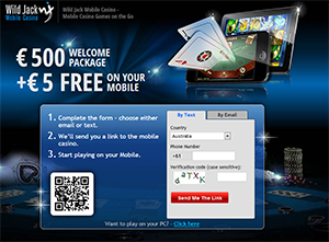 Wild Jack Mobile, $5 FREE, $500 Draw, Reel O'Fortune