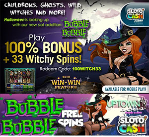 Witchy Wins and Free Spins at Sloto'Cash and Uptown Aces