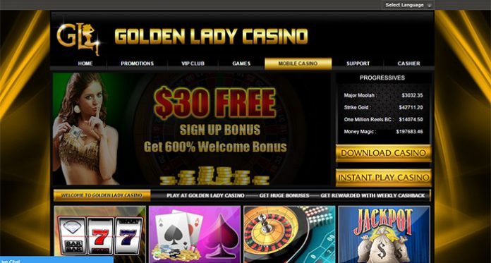 Golden Lady Casino Complaint (account locked) - Resolved