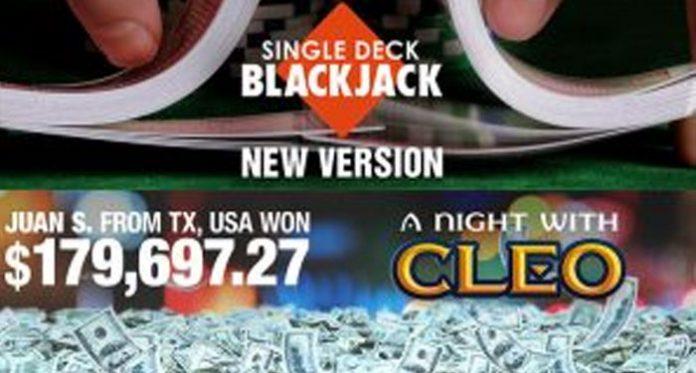 A Night with Cleo Pays $180K Jackpot, Plus New Single-Deck Blackjack