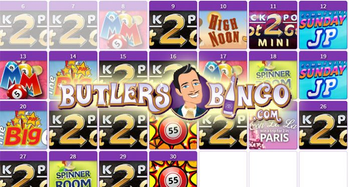 Play to Win Daily at Butler's Bingo £1,000 JPGOT2GO!