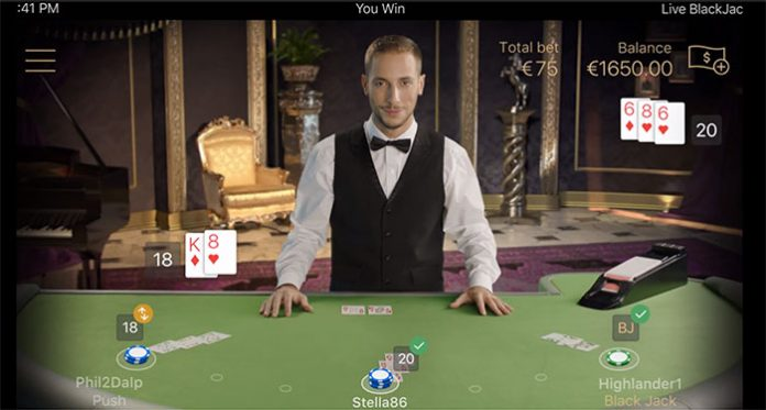 NetEnt Live Debuts its New Mobile Standard Blackjack