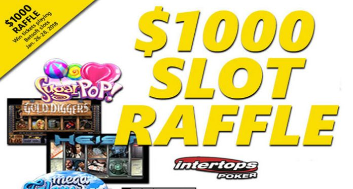 $1K Raffle at Intertops Poker This Weekend Only