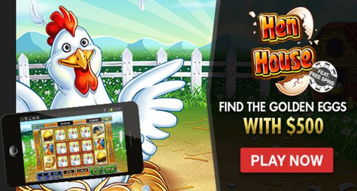 Join in the Golden Egg Hunt with $500 at Intertops Casino