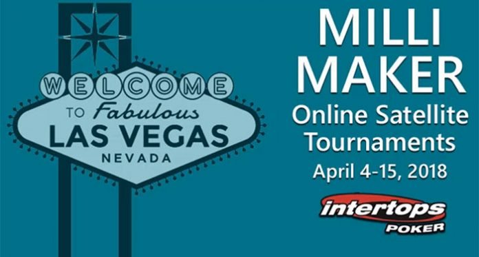 Intertops Poker Vegas Milli Maker, Your Chance to Turn $3 into $1,000,000!