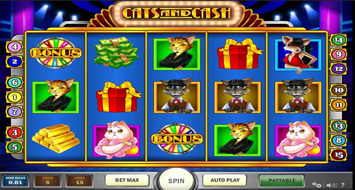 Games cats and cash playn go slot game 777]