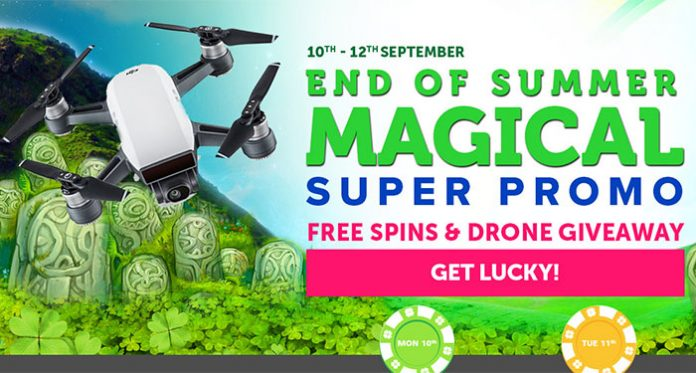 Get Spins and a Chance to Win a DJI Spark Drone at CasinoLuck