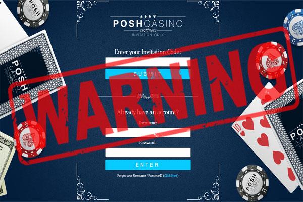 Posh Casino Scam