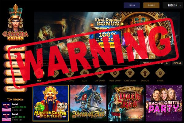 Cleopatra Casino Scam