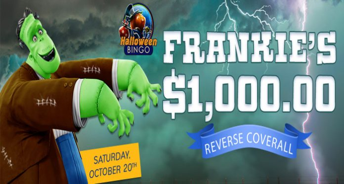 Frankie's $1,000 Reverse Coverall Event at Downtown Bingo