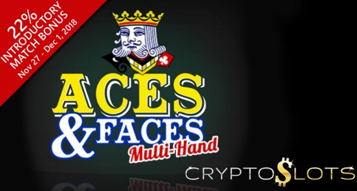 New Video Poker Game Bonus Exclusively at CryptoSlots Casino