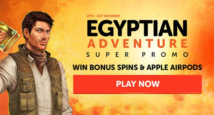 WildSlots Egyptian Adventure Super Spins & Raffle Giveaway