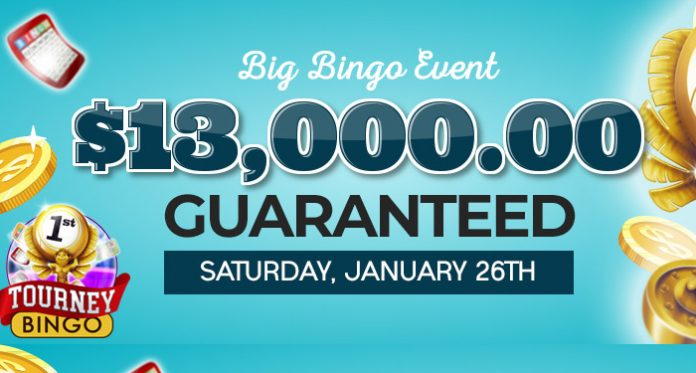 $13,000 Guaranteed Big Bingo Event at Downtown Bingo