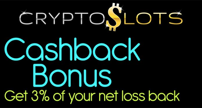 Weekly Cash Back Bonuses Exclusively at CryptoSlots Casino