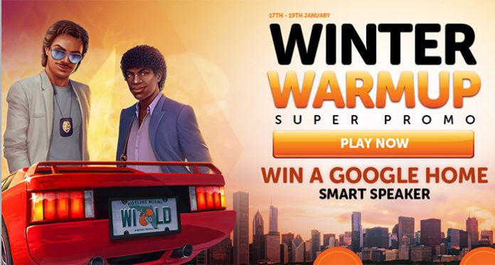 Wild Slots Winter Warmup + a Chance to Win a Google Smart Speaker