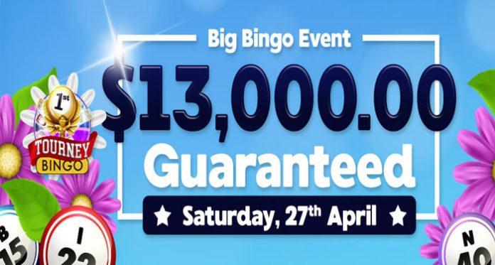 Downtown Bingo's Guaranteed Big Bingo Event is April 27th