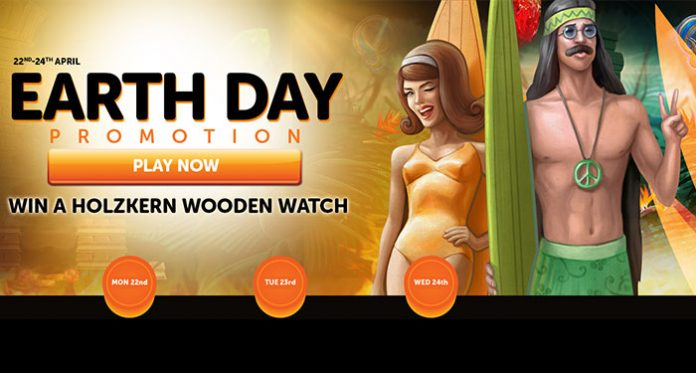 Deposit for Spins and a Chance to Win a Holzkern Watch