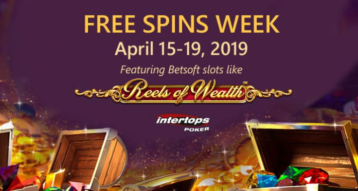 Intertops Poker Players Get up to 100 Free Spins on Popular Betsoft Slots