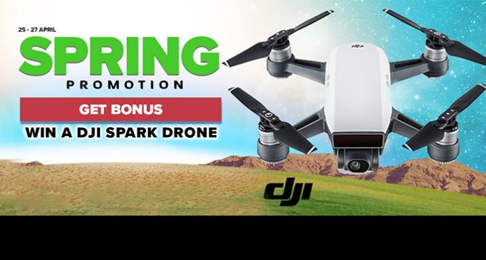NextCasino Spring Promo, Win Spins and a Raffle for a DJI Spark Drone