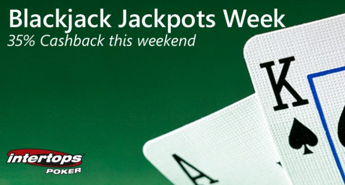 $2000 Blackjack Jackpot Week and Cashback Weekend at Intertops Poker