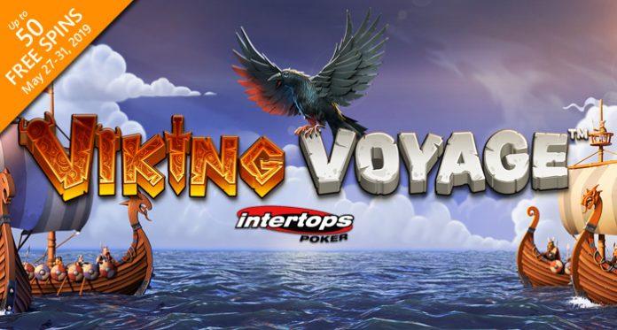 Receive 50 Free Spins on Viking Voyage at Intertops Poker