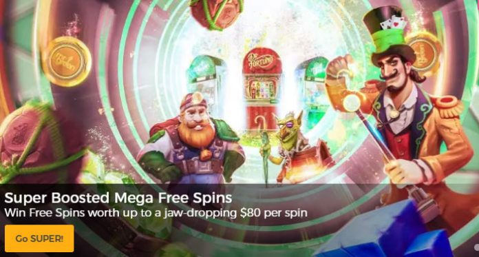 Super Boosted Mega Free Spins with Mr Green this Week