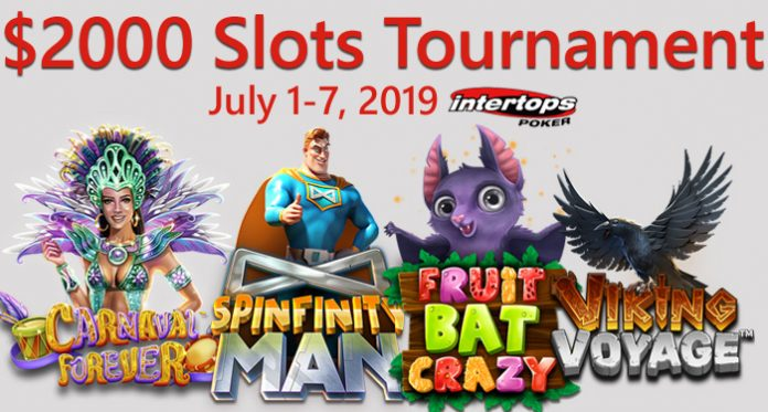 Betsoft's $2000 Slots Tournament at Intertops Poker in July