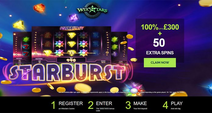 Play Wixstars Casino and Get a 100% up to £/$/€300 + 50 Free Spins