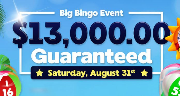 Downtown Bingos August Big Bingo Event is this Saturday August 31