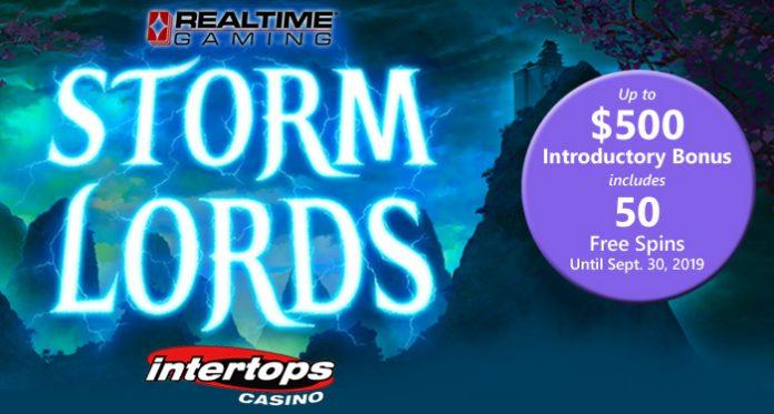 Intertops Casino Introduces New RTG Slot, Storm Lords