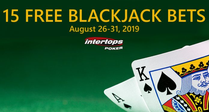 Everyone Gets 15 Free Blackjack Bets at Intertops Poker