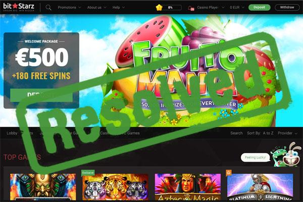 Bitstarz Casino Complaint