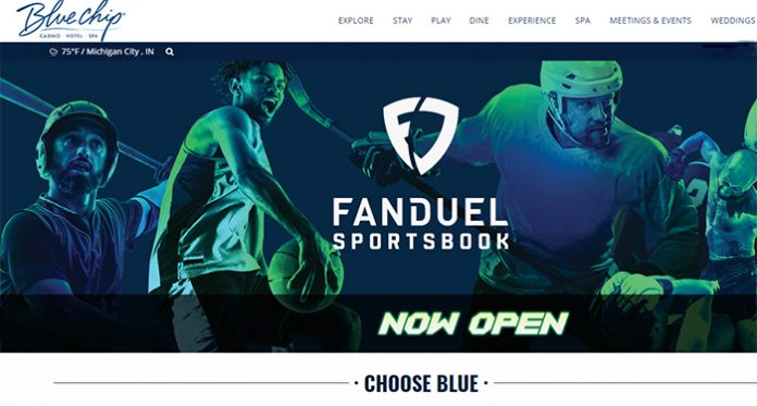Fanduel Group Launches its Sports Betting Services in Blue Chip Casino