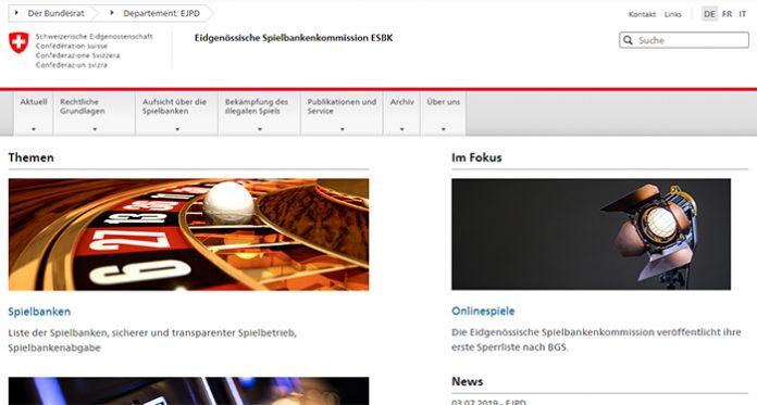 Eidgenössische Spielbankenkommission Publishes First iGaming Blacklist