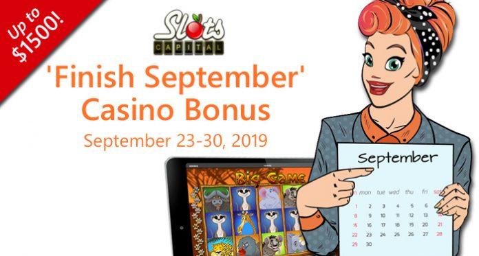 Slots Capital Casino Players Finish September with 300% Bonus