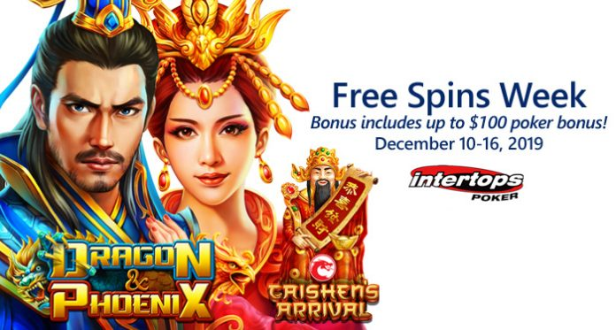 Free Spins up to $100 Poker Bonus this Week at Intertops Poker