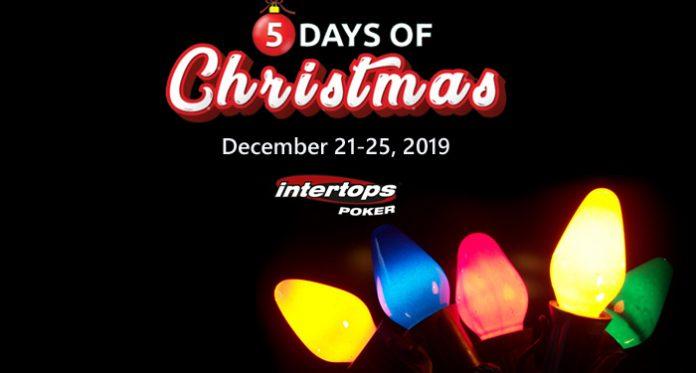 5 Days of Christmas Presents Start Saturday at Intertops Poker