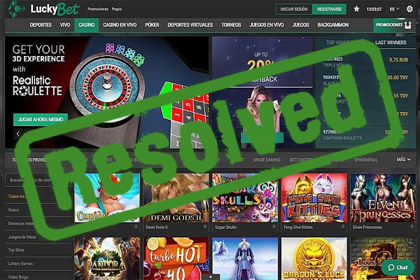 Luckybet Casino Payout Complaint