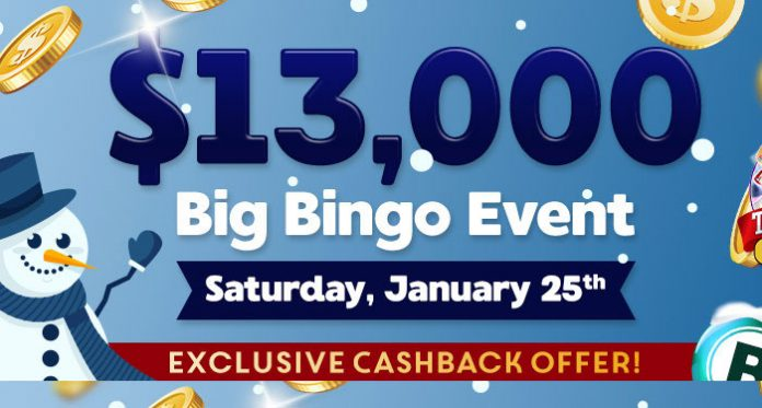 Downtown Bingo's $13,000 Big Bingo Event Saturday, January 25 EST
