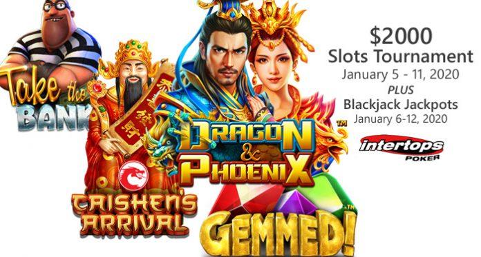 Intertops Poker New Year's Slots Tournament and Blackjack Bonuses