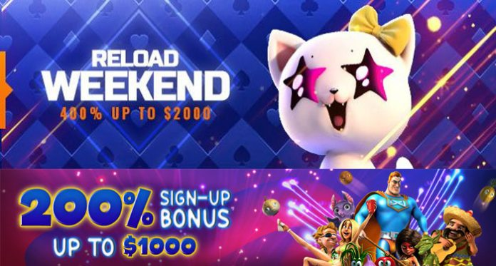 Weekends are Better with $2K Reload Bonuses at Big Spin Casino