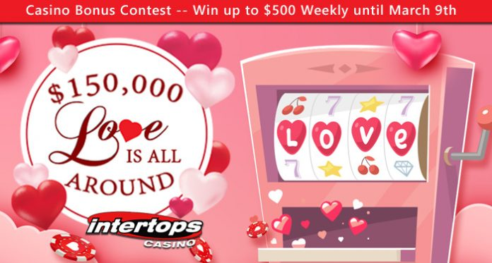 "$150K ""Love is All Around"" Contest at Intertops Casino"
