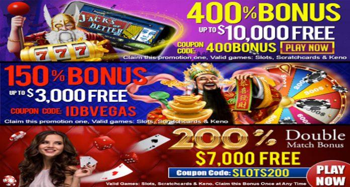 Las Vegas USA Casino Double Match Monday Bonus