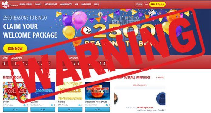 bingo canada scam