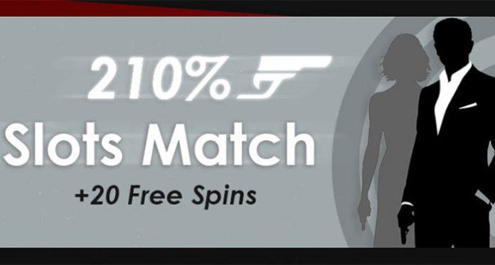 Cherry Gold's James Bond Promo - Get 210% Slots Match, 20 Free Spins