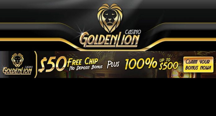$50 Free Chip No Deposit Bonus at Golden Lion Casino