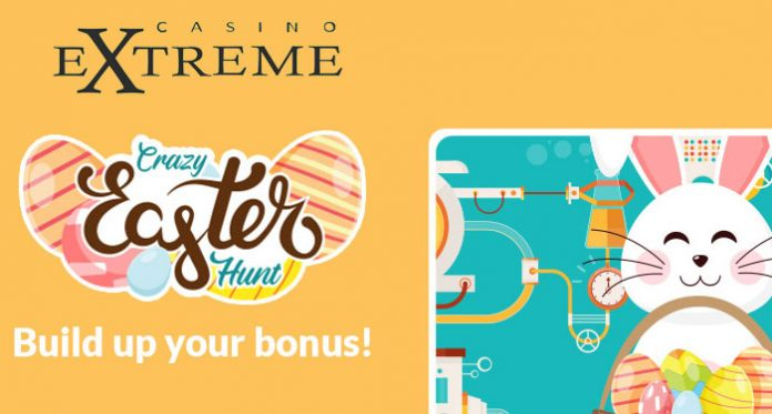 Build Your Bonus with Casino Extreme Crazy Easter Hunt