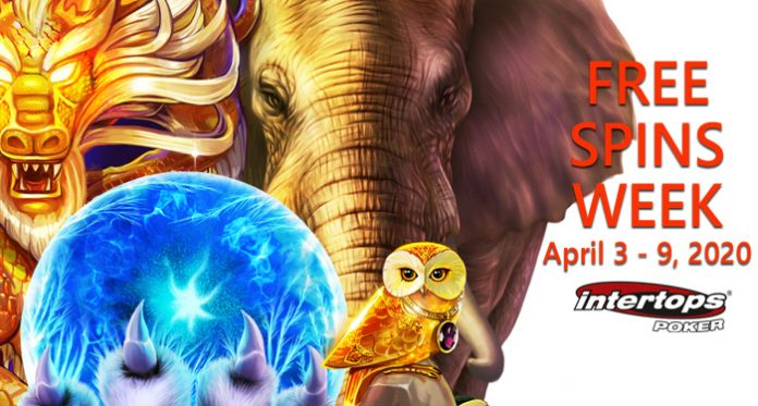 It's Free Spins Week April 3 - 10 Exclusively at Intertops Poker